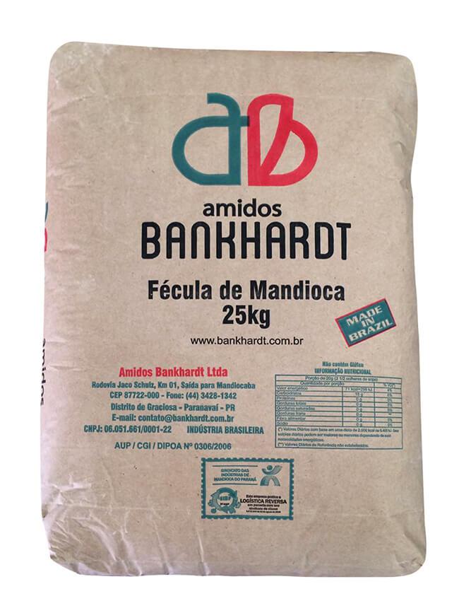 Fécula de mandioca 25kg – Embalagem Parda