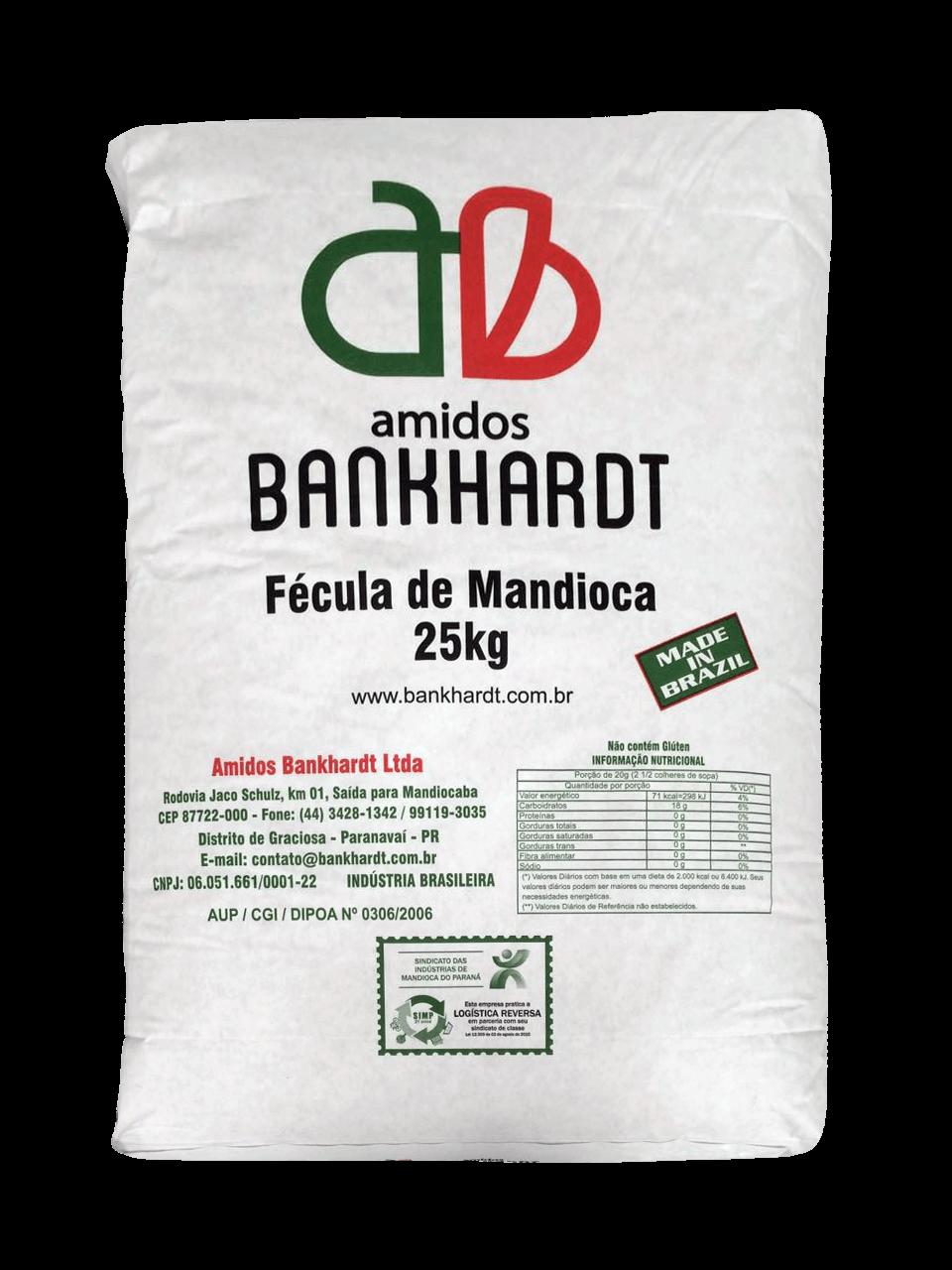 Fécula de mandioca 25kg – Embalagem Branca